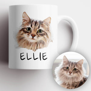 Cat Photo Illustration Mug