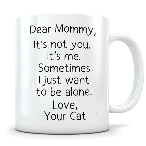Want To Be Alone - Personalized Cat Mug