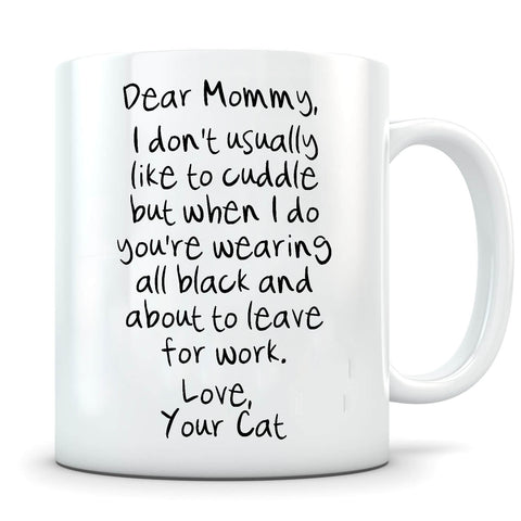 Image of Don't Usually Like To Cuddle - Personalized Cat Mug - MisoPunny