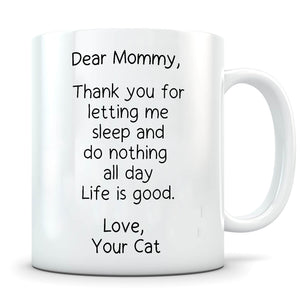 Letting Me Sleep - Personalized  Cat Mug - MisoPunny