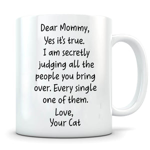 Secretly Judging - Personalized Cat Mug - MisoPunny