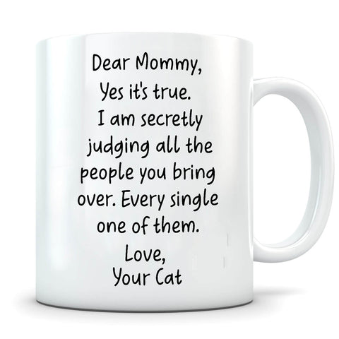 Secretly Judging - Personalized Cat Mug