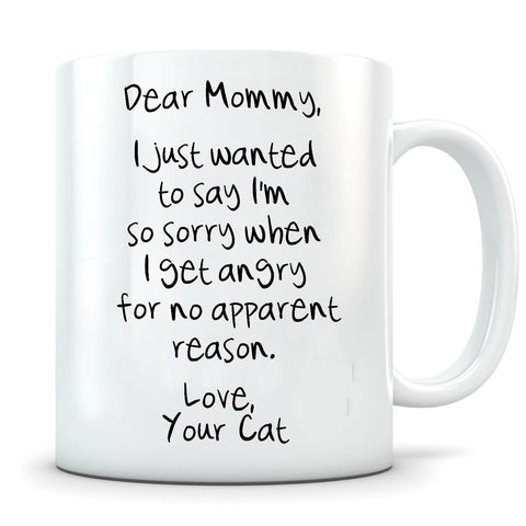 Image of Angry No Apparent Reason - Personalized Cat Mug - MisoPunny