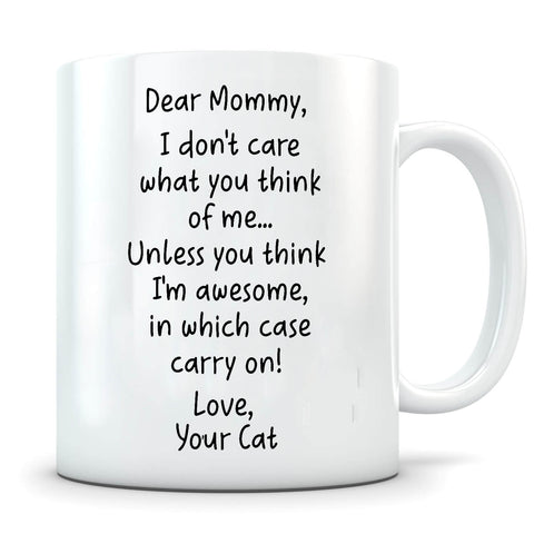 Image of I'm Awesome - Personalized Cat Mug - MisoPunny