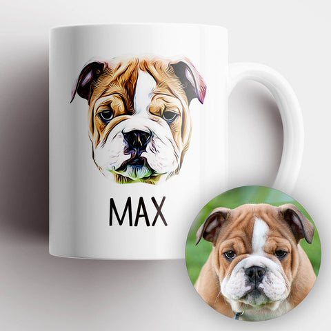 Dog Photo Illustration Mug - MisoPunny