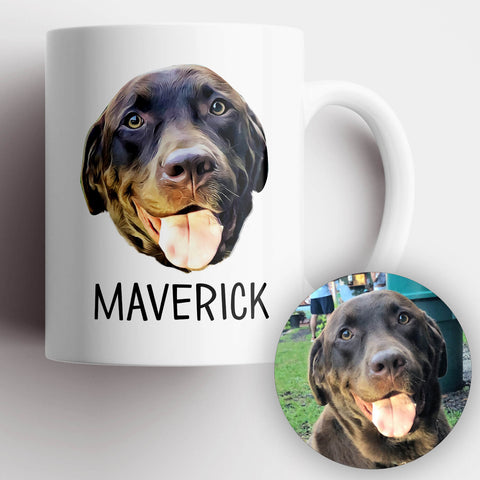 Image of Dog Photo Illustration Mug - MisoPunny