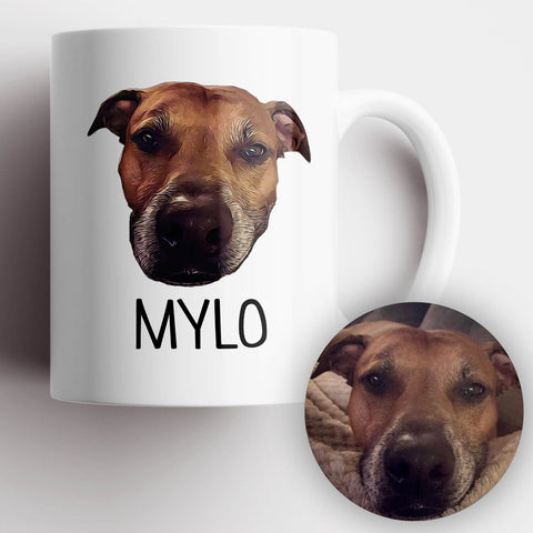 Dog Photo Illustration Mug