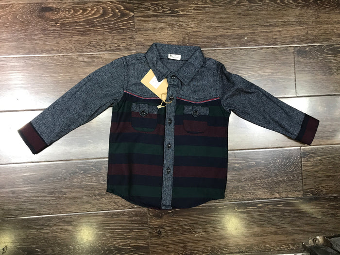 Boys' Plaid LS shirts