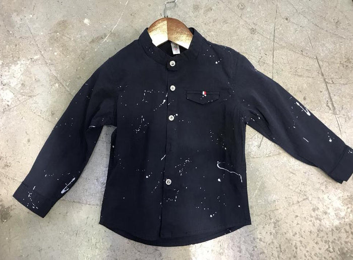 Boys SPLATTER LS shirt