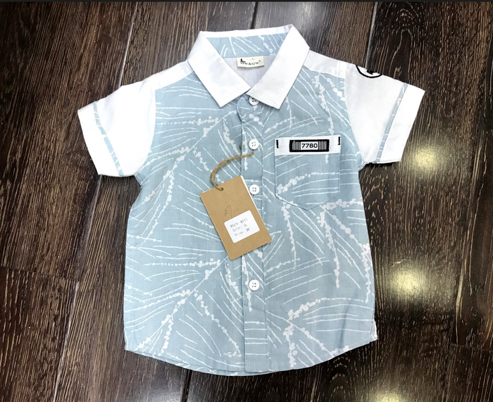 Boys short sleeve printed shirt