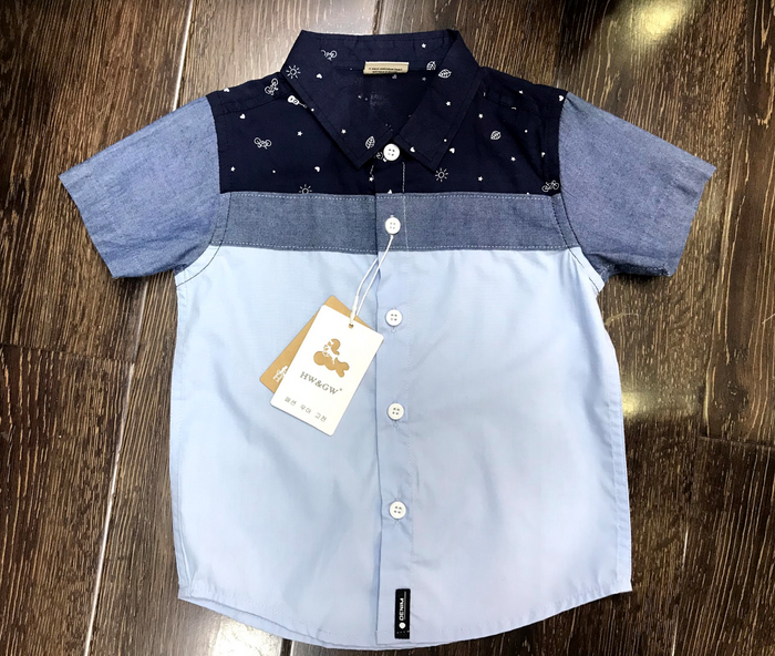 Boys short sleeved smart shirt
