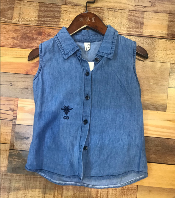 Krishna girl's denim top