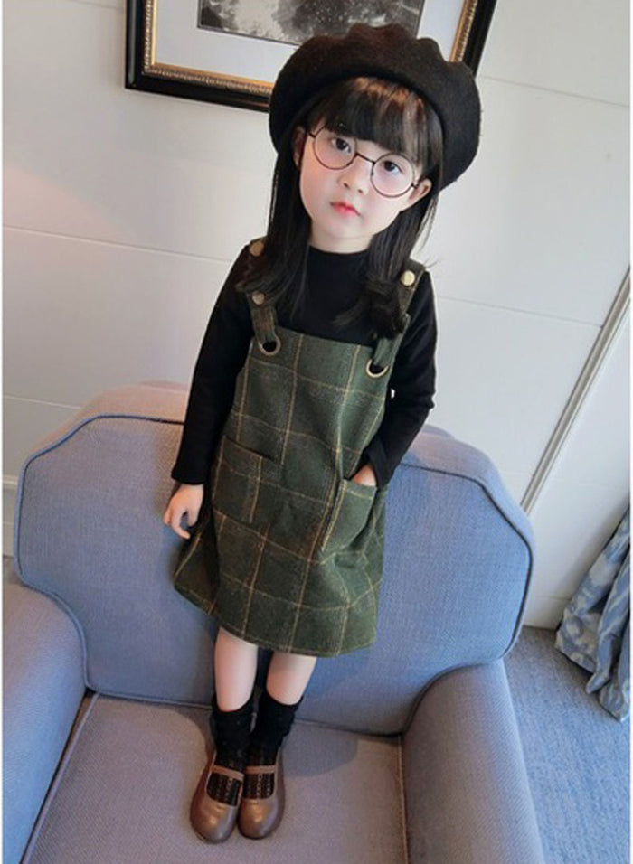 Girls' Plaid Tunic Dress