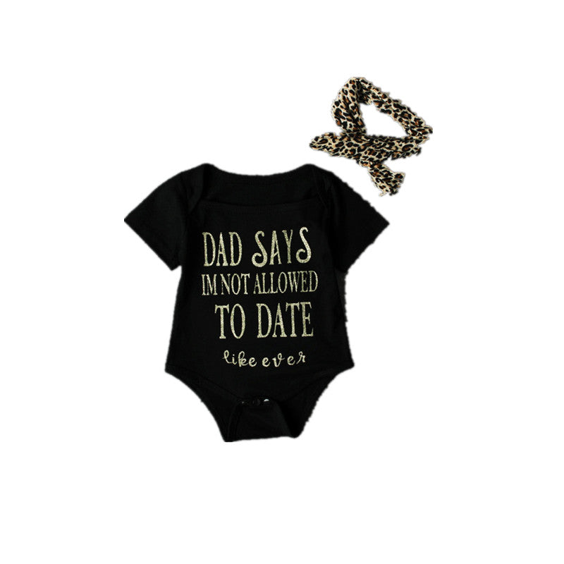 'Daddy says' Baby girl set