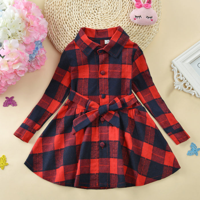 Girls Winter Plaid dress