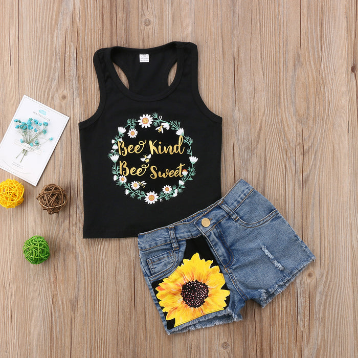 Sun flower Denim set