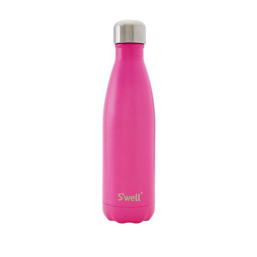 Swell Satin Stainless Steel Insulated Drink Bottle 500ml - Bikini Pink