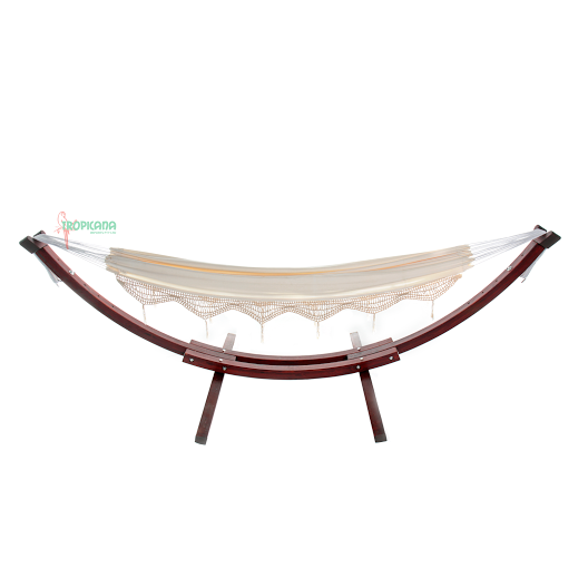 Wooden Arc Stand & Hammock Combo