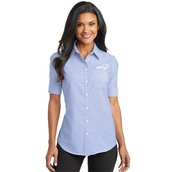 Unity Ladies Super Pro Short Sleeve Oxford Shirt