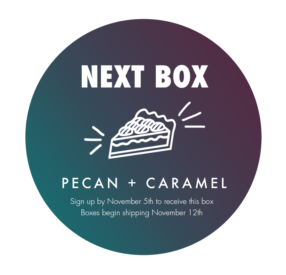 October's scent is Cashmere and Cedar. Sign up by September 5th to receive this box!