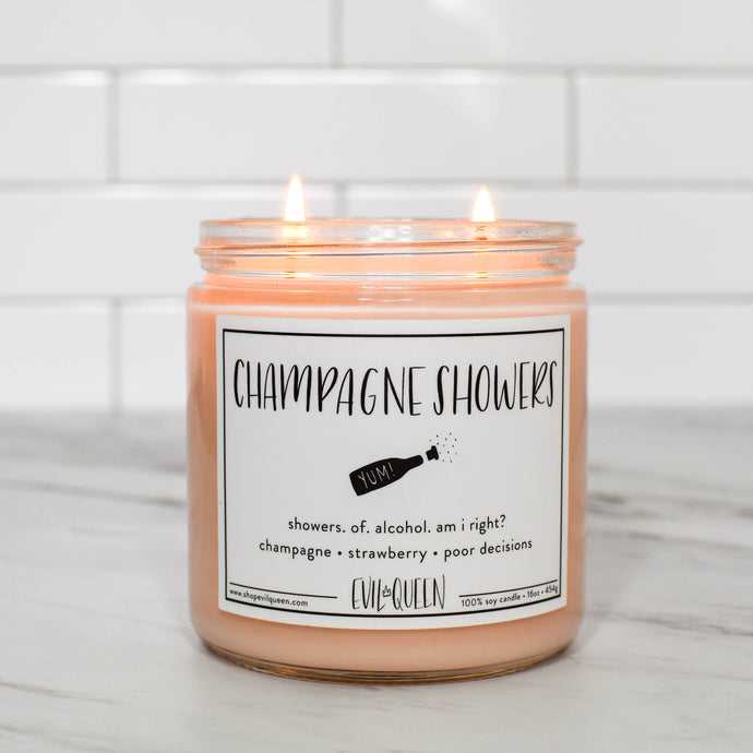Sass. Champagne. Soy wax. Evil Queen candles are vegan and totally cruelty free