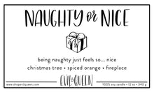 Naughty or Nice list cute sassy vegan candle from Evil Queen