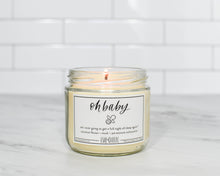 This vegan candle is made from 100% soy wax, so it's perfect for new mommas