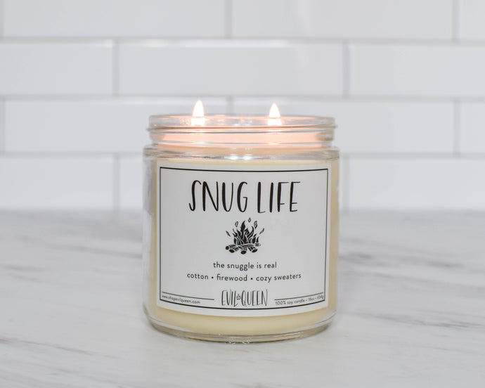 Funny vegan soy candle to stay in and cuddle with
