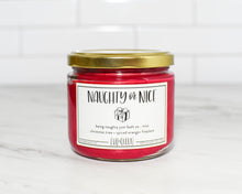 Being naughty feels so... nice. Vegan 100% American-grown soy wax candle.