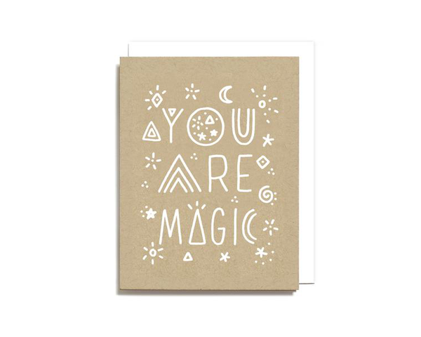 You Are Magic any occasion hand drawn greeting card