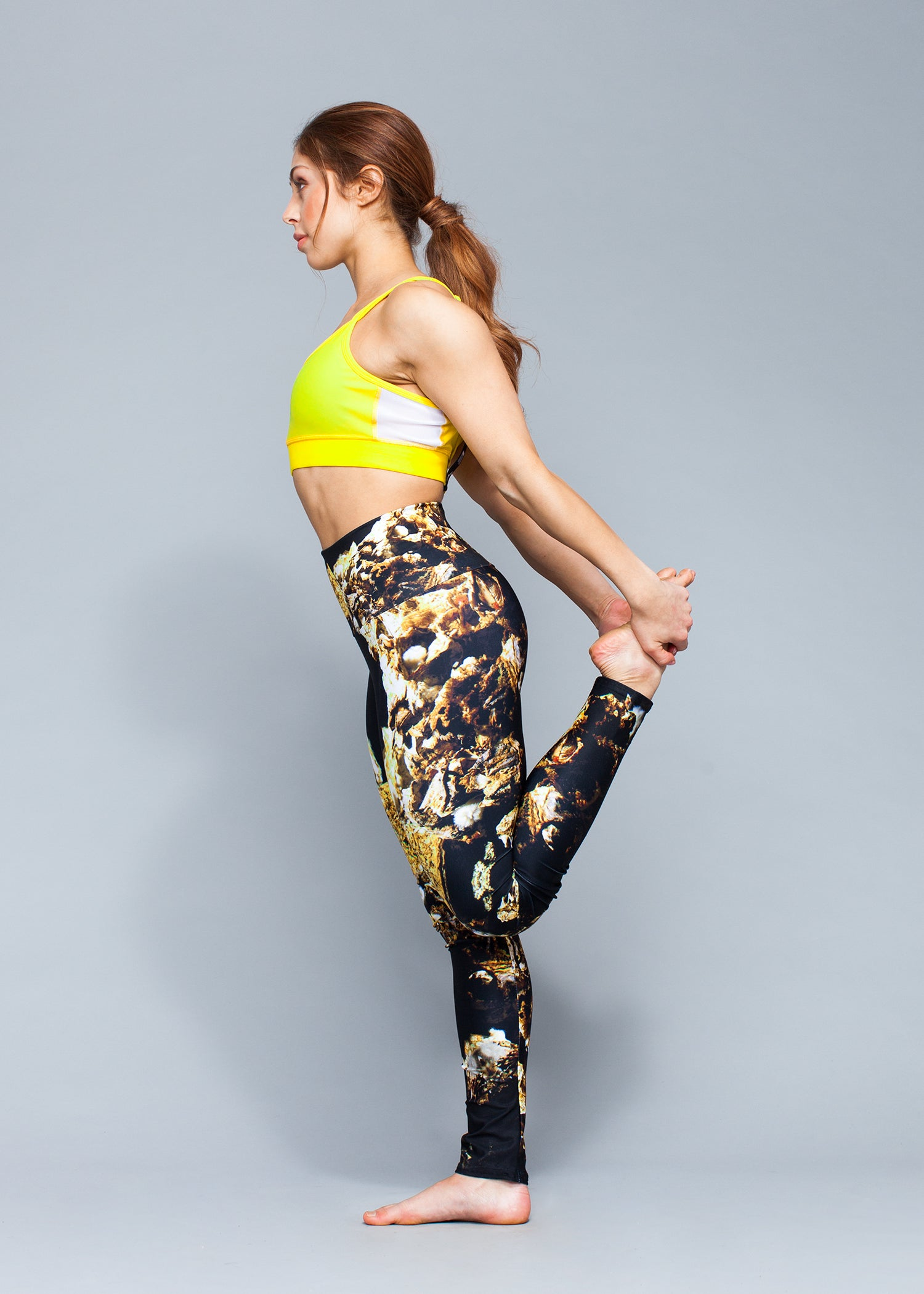 Gold Living Rock Yoga Leggings