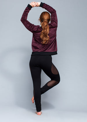 Thigh Skimming Mesh Legging