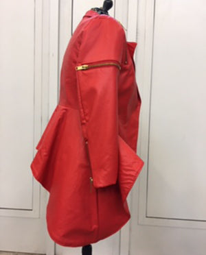 Red Pleather Jacket