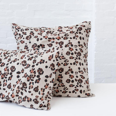 Leopard Pillowcase - 100% French flax Society of Wanderers