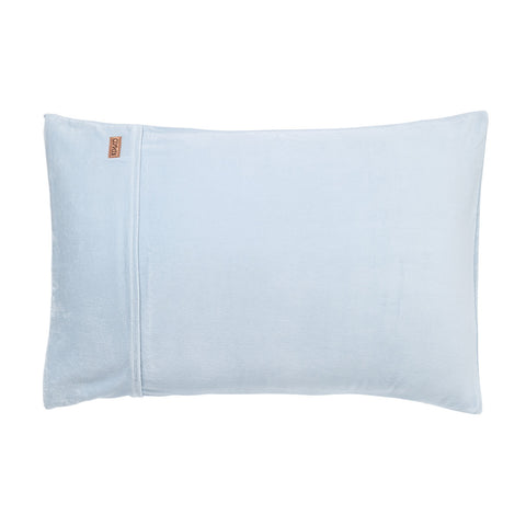 Baby Blue Velvet Pillowcase Set