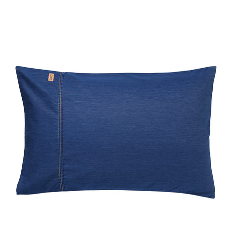 Dark Denim Pillowcase Set