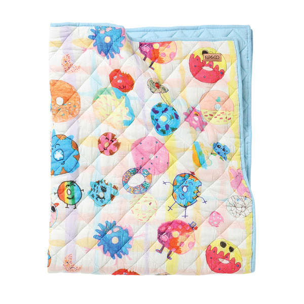 Donut Eat Me Quilted Bedspread - Cot