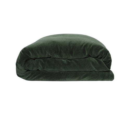 Kombu Green Velvet Quilt Cover KIDS