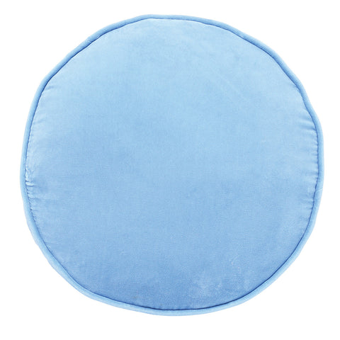 Sky Blue Velvet Pea Cushion
