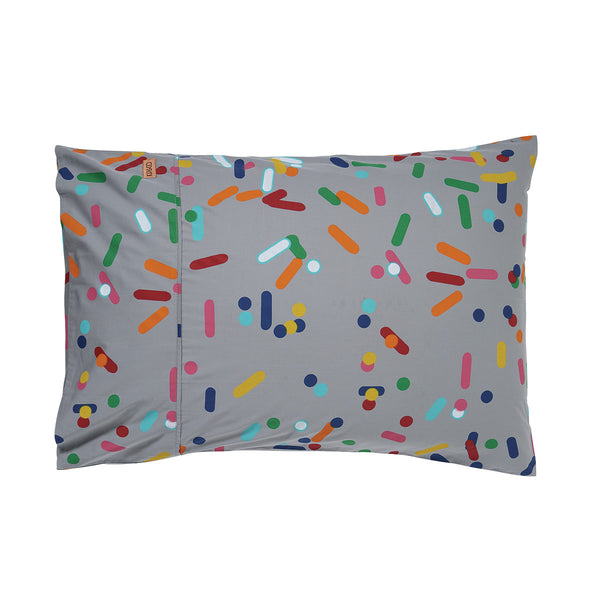 Sprinkles Grey Single Pillowcase