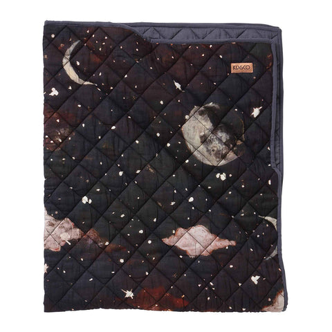 Starry Night Quilted Bedspread - Cot