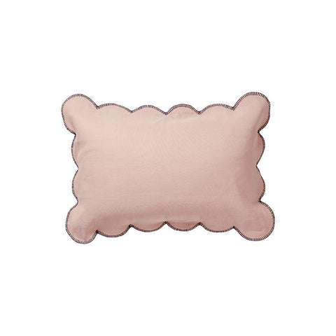 Willow Scallop Pillowcase - Coral