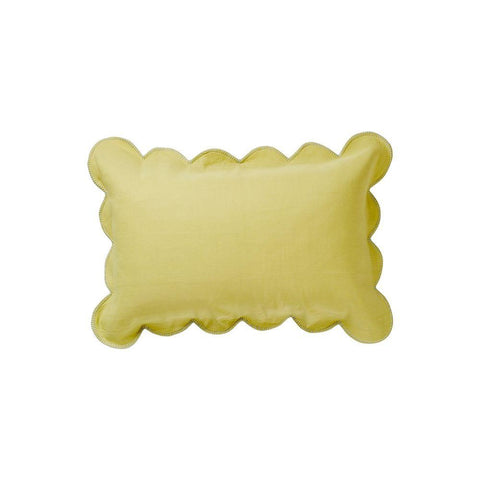Willow Scallop Pillowcase - Chartreuse