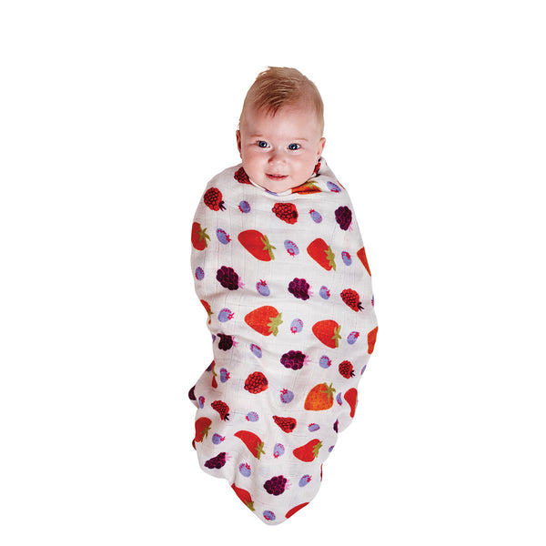 Very Berry & Gridlock Pastel Bamboo Swaddle Set