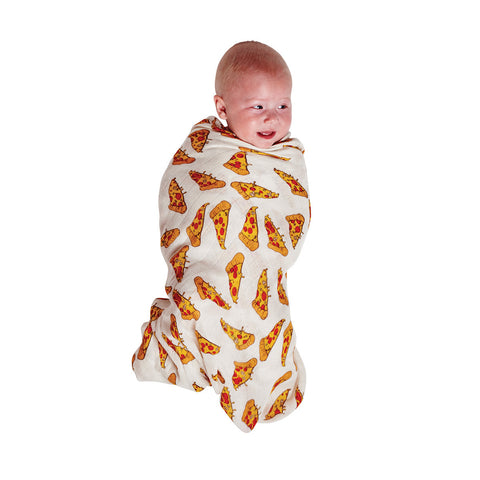 Sprayed Carnival & Pizza Bamboo Swaddle Set