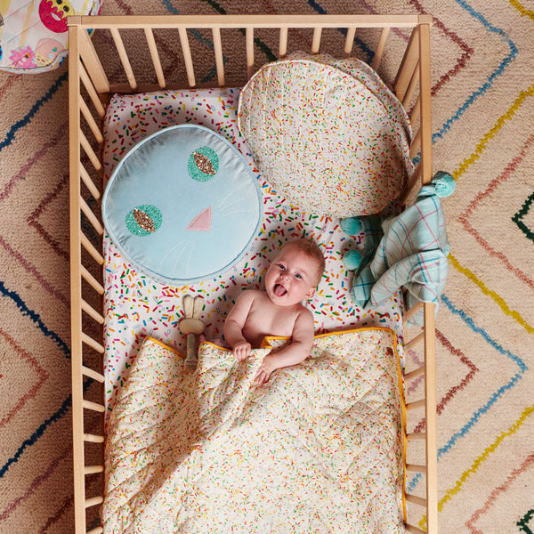 Sprinkles White Fitted Sheet Baby - Cot