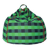 Apple Green Tartan Canvas Beanbag