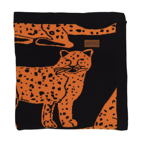 Cheetah Black Cotton Baby Blanket