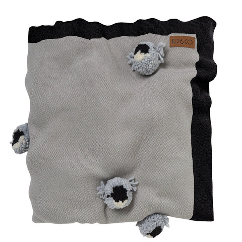 Koala PomPom Cotton Blanket