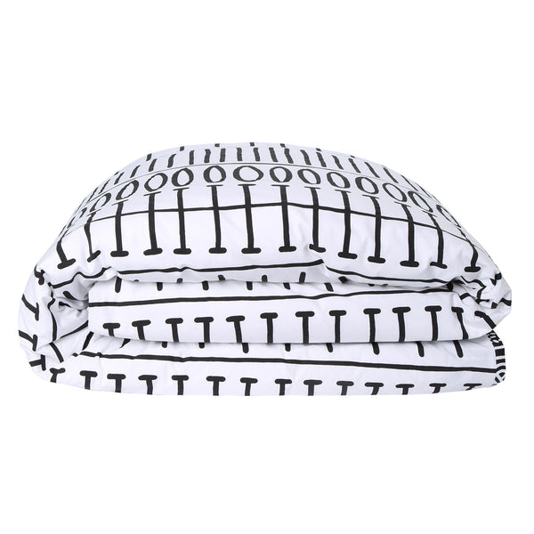In Black and White Reverse Monochrome Quilt Cover